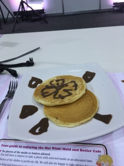 Cute pancakes for dessert